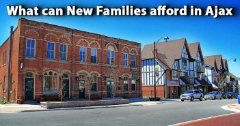 What can New Families afford in Ajax